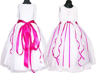 PL Dress for girl. Cudeńko! Ribbons, tulle