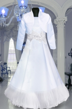 Beautiful dress, alba Communion- diamond application. Sizes 128-152 Communion 2018 No.5