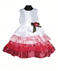 Dress for girl. Elegant taffeta ball.
