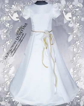 Beautiful dress, alba Communion- tied with gold cord. Sizes 128-158 Communion 2018 No.1