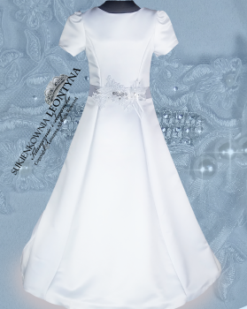 Beautiful dress, alba Communion- diamond application. Sizes 128-158 Communion 2018 No.1