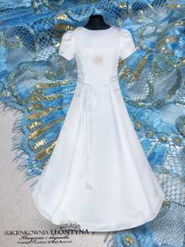 Beautiful dress, alba Communion- diamond application. Sizes 128-158 Communion 2018 No.4