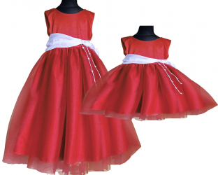 Dress for girl. RED Elegant for ball, bridesmaids, wedding pearl