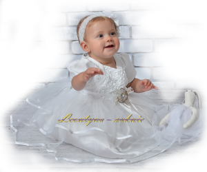 Cute dress for girl. Baptism, year.
