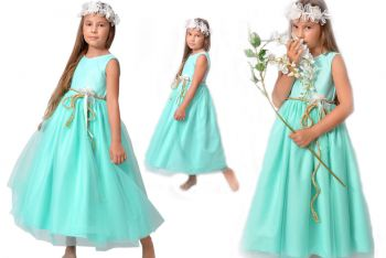 PL Mint dress for girl. Tiffany