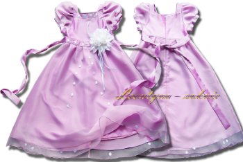 PL Dress for girl. A light and shiny baronetka